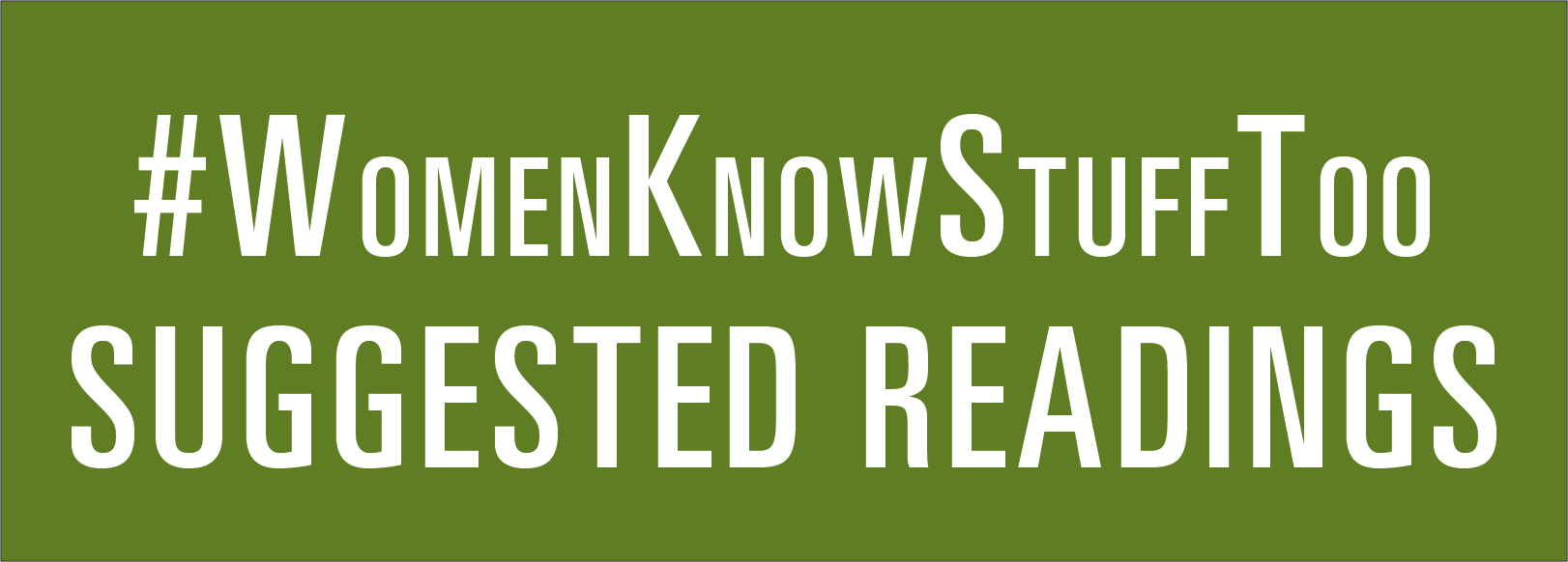 Link for suggested reading list on #WomenKnowStuffToo